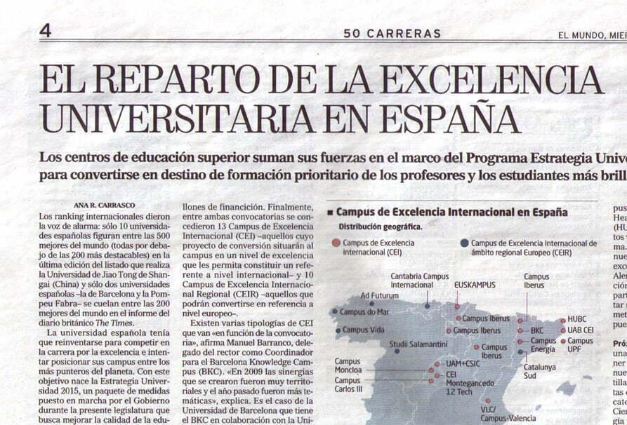 """Imagen de la página del Periódico """"El Mundo"""""""