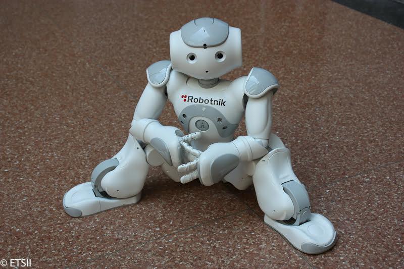 Uno de los robots de la exposición
