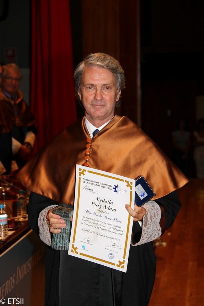 Medalla Puig Adam para D. Eduardo Montes