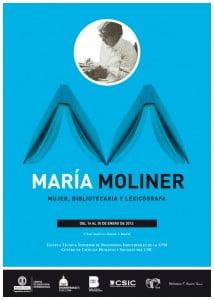 Cartel de la Exposición María Moliner