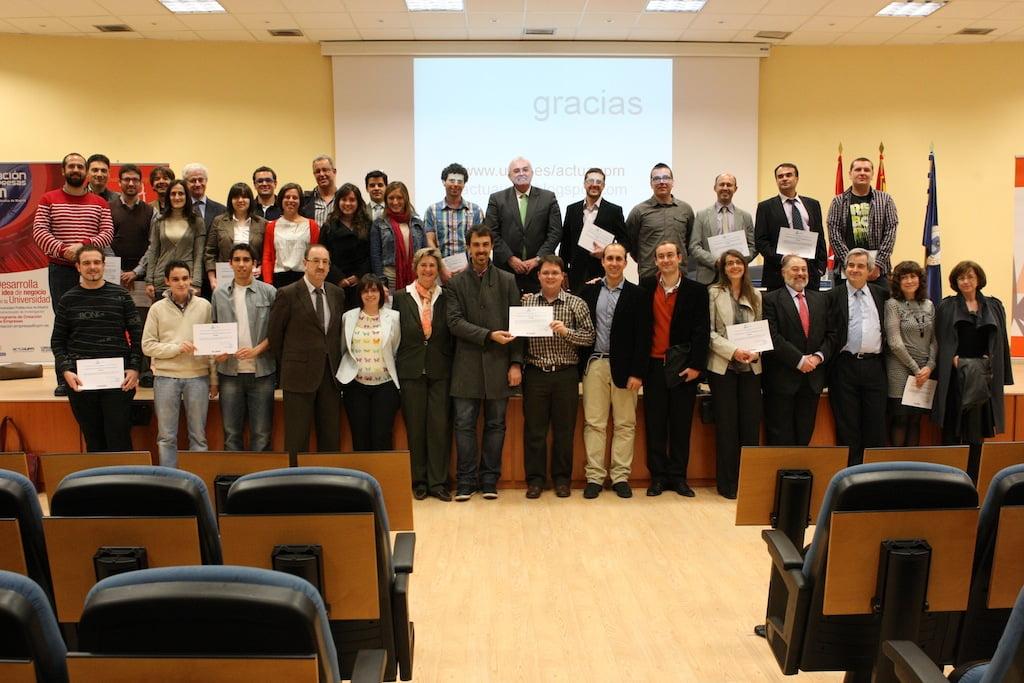 Foto de los premiados de industriales en ACTUAUPM