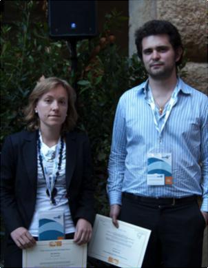 Imagen de la premiada por la Cátedra, Carolina García Martos