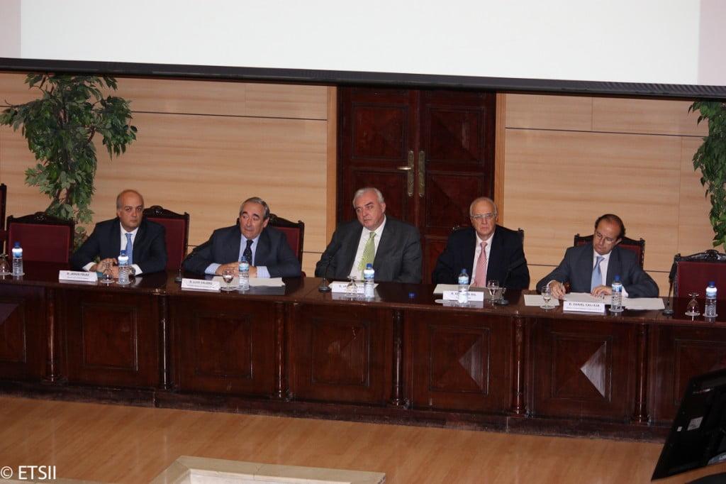 Jesús Félez, Luis Valero, Javier Uceda, Eduardo Gil y Daniel Calleja