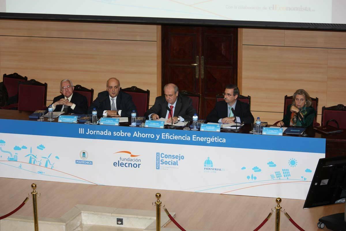 Apertura de la Jornada de Eficiencia Energética en la ETSII