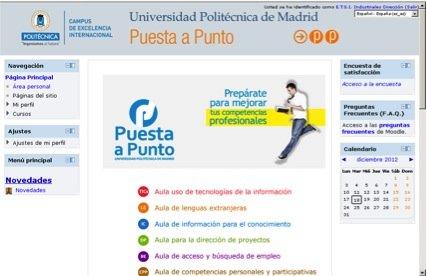Portal de Puesta a Punto de la UPM