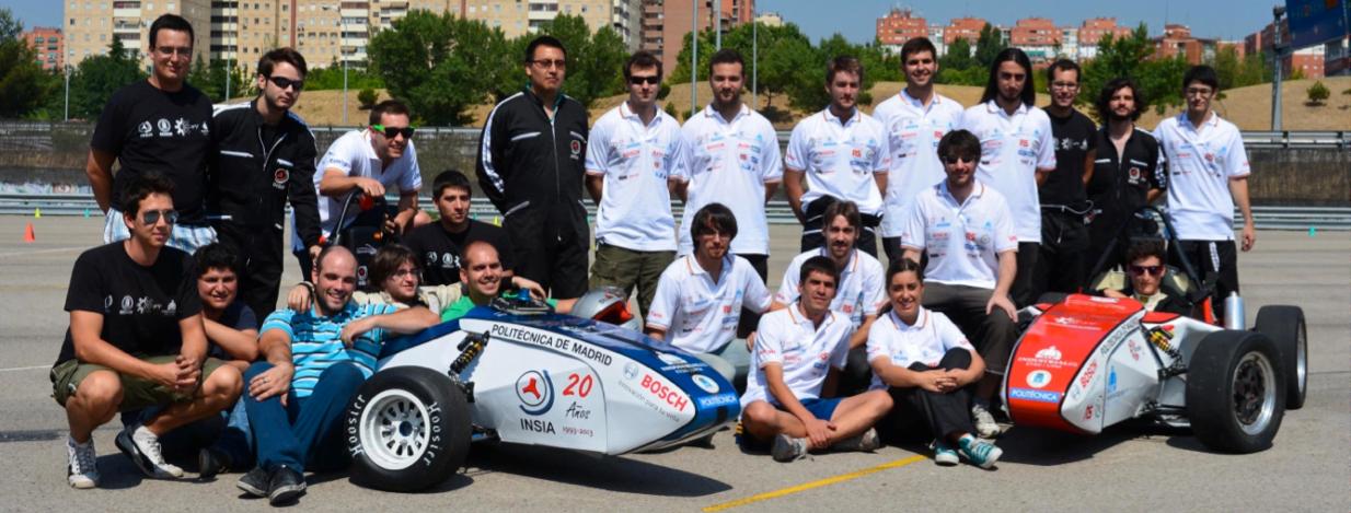 Equipo de UPM Racing de Escuela Industriales