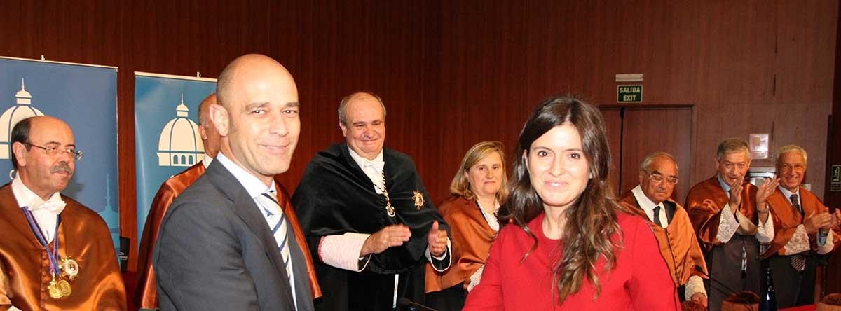 Recogida de premio Alstom en la ETSI Industriales
