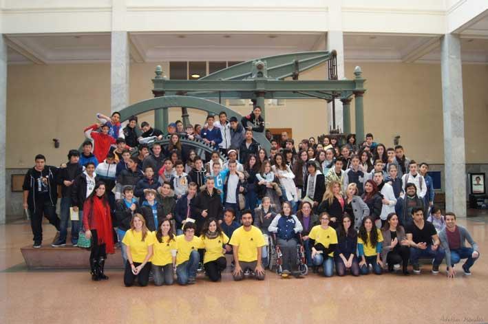 El grupo durante la visita de Responsabilidad Social