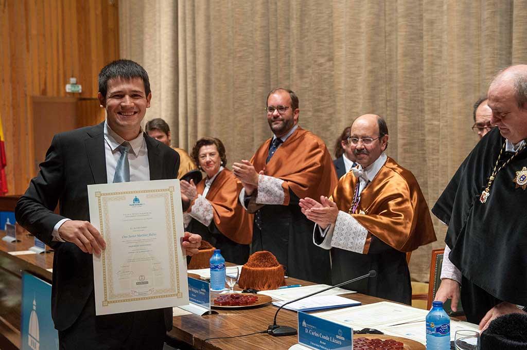 Javier Martínez, numero 1 de la 157 promoción de Industriales