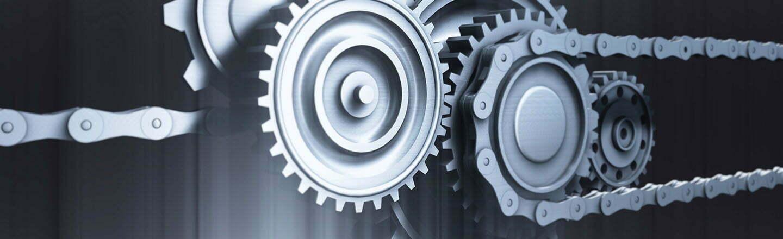 Industrial gear mechanism background