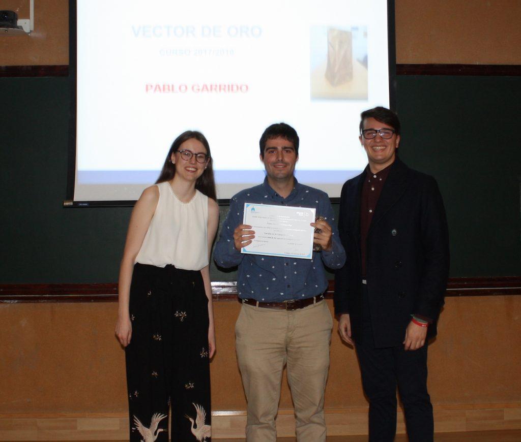 Pablo Garrido Vector de Oro al Mejor Docente 2018